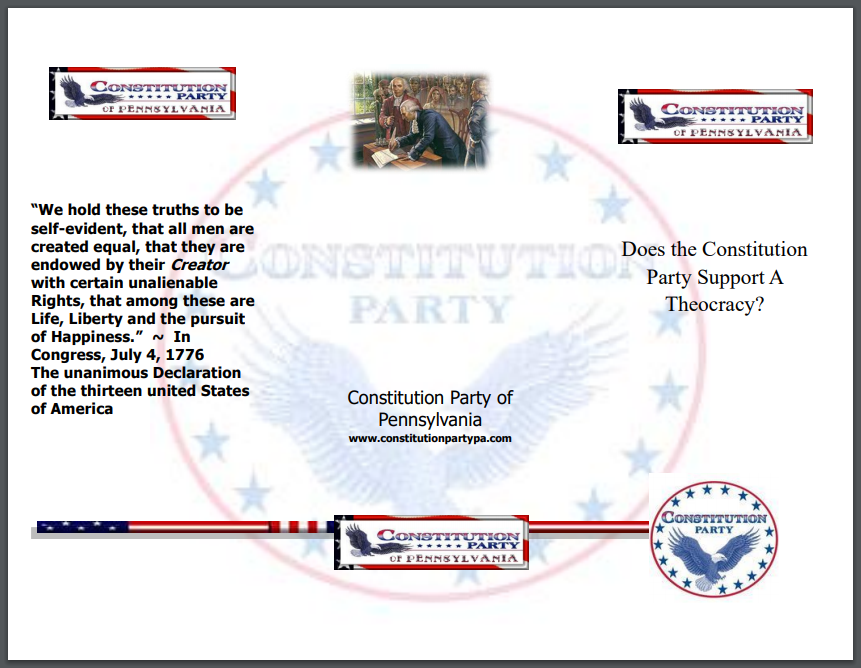 Does the Constitution Party Support a Theocracy?